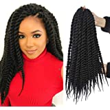 6 Packs 14 Inch Havana Mambo Twist Crochet Braids Senegalese Twist Crochet Hair Havana Mambo Braiding Hair Extensions…
