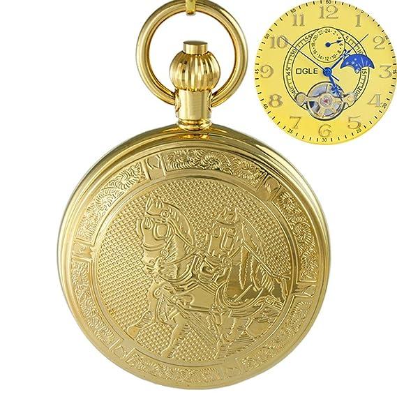 Ogle impermeable oro caballo Tourbillon fases luna colgante ...