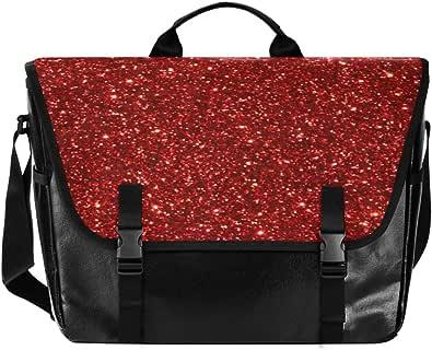 Bolso de lona con estrellas luminosas rojas para hombre y mujer, estilo retro, ideal para iPad, Kindle, Samsung