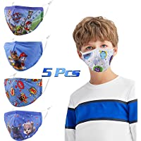 Gyothrig 5 Pcs Face Masks for Kids, Comfortable Protective Masks, Reusable & Washable Adjustable Headwear for Outdoor