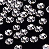 144pcs/lot SS40(8mm) Clear Crystal Flat Back Brilliant Round Rhinestones Glass Stones Glitter Gems (SS40, Clear)