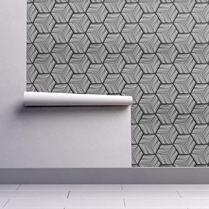 Peel And Stick Removable Wallpaper Graphic Graphic Black