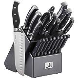 19-Piece Premium Kitchen Knife Set With Wooden Block | Master Maison German Stainless Steel Cutlery With Knife Sharpener…