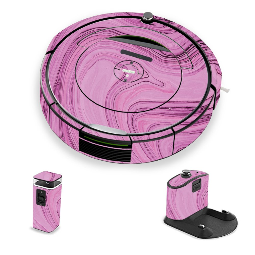 MightySkins Skin For iRobot Roomba 690 Robot Vacuum - Pink Thai Marble | Protective, Durable, and Unique Vinyl Decal wrap cover | Easy To Apply, Remove, and Change Styles | Made in the USA