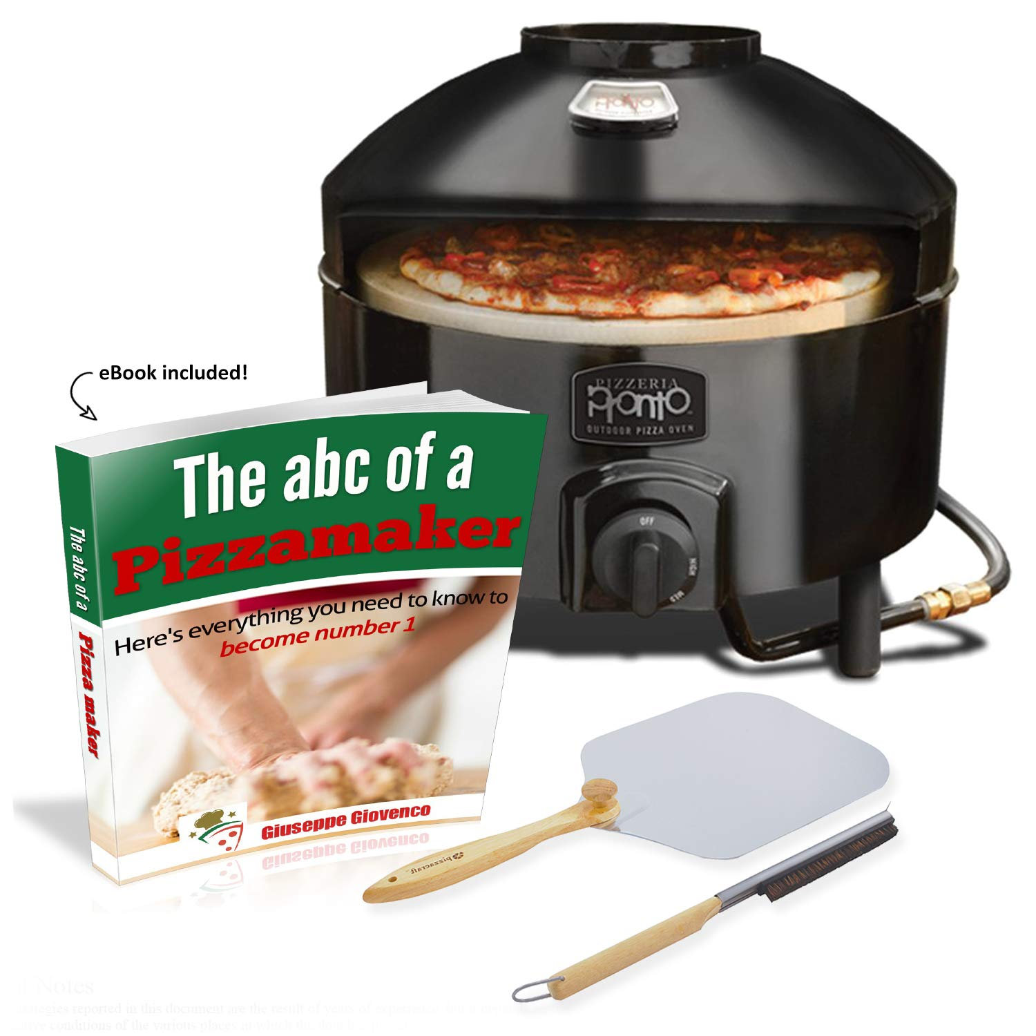 Pizzacraft Pronto Outdoor Pizza Oven with Brush and Peel. eBook Included! by Pizzacraft