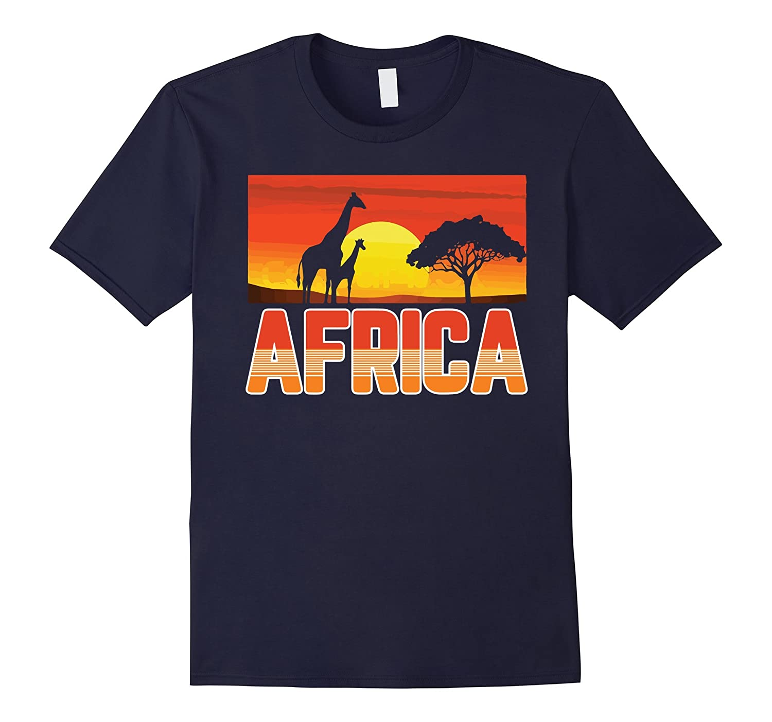 Africa Shirt Savannah Safari Cool Giraffe African Tee-Art