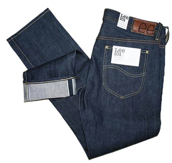 4b196037 Lee 101 S Regular Fit, 13.75oz, Dry Kaihara Jeans Navy: Amazon.ca ...