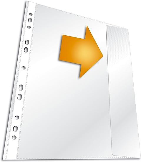 50x A4 Dokumentenhülle GLASKLAR Prospekthülle mit Klappe 150my extra Stark