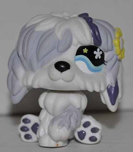 LPS Collectible Replacement Single Figure Hasbro - Littlest Pet Shop Collector Toy Retired Green Eye Loose OOP Out of Package /& Print Sheepdog #1816