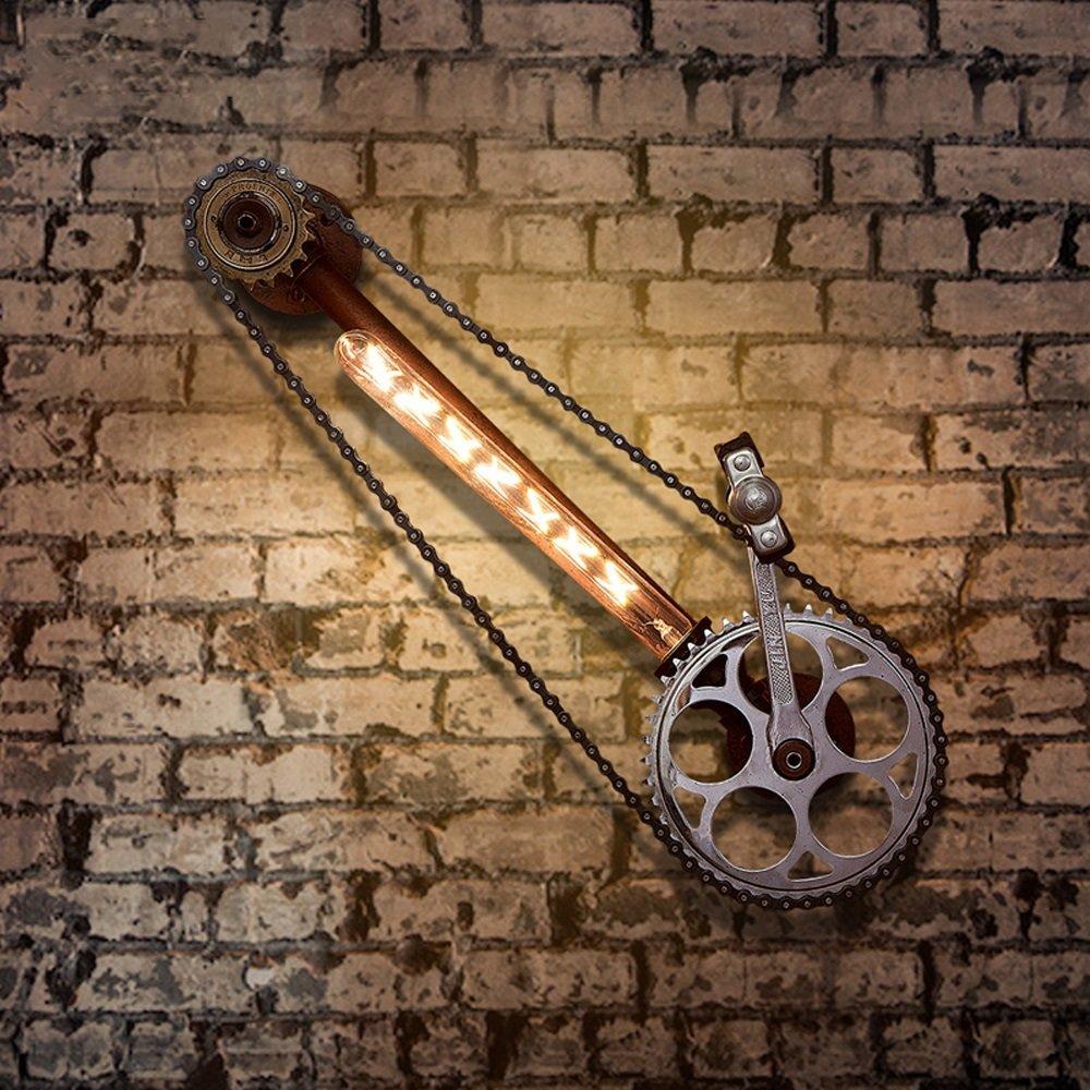 Bicycle chain wall lamp Retro wall lamp Industrial wall lamp Iron wall lamp Restaurant Bar Café Attic corridor balcony Basement Garage 23.2 Inch long by Lizichun (Image #4)