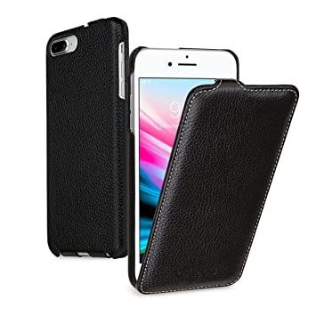 100% authentic 21bd5 8cdaa keledes iPhone 8 Plus & iPhone 7 Plus leather flip down Case, Slim Genuine  Real Leather Vertical Flip Case Cover Protective Case for iPhone 8 Plus &  ...