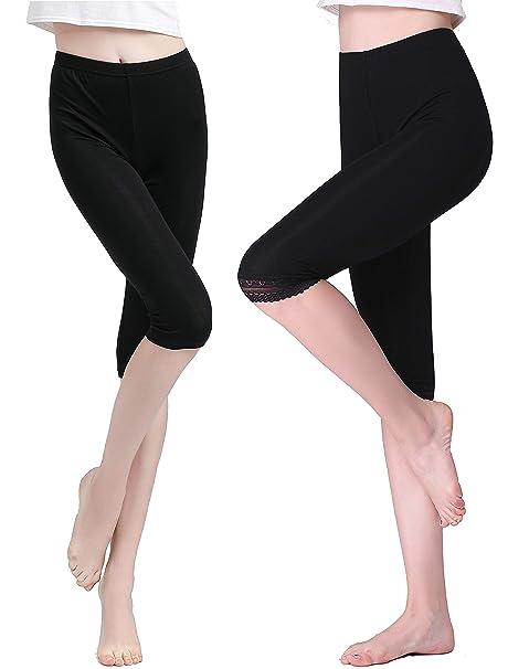 Amazon.com: vinconie Modal elástico Mujeres Leggings fino ...