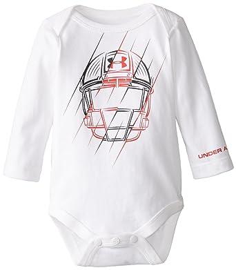 7b6784a9d6 Amazon.com: Under Armour Baby-Boys Newborn Protector Bodysuit, White ...