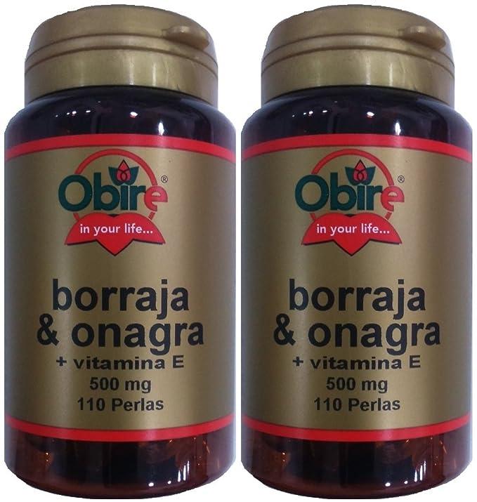 OBIRE BORRAJA & ONAGRA 500 mg 110 perlas: Amazon.es: Salud y cuidado personal