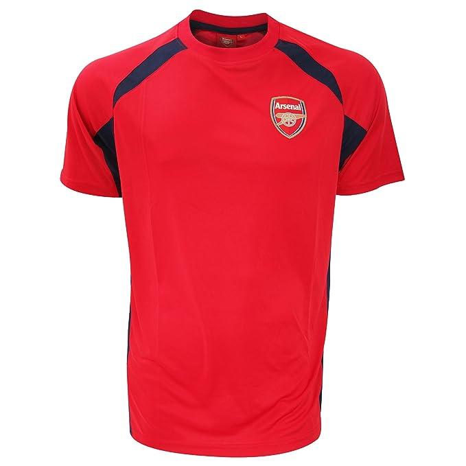 Arsenal FC - Camiseta Oficial de Manga Corta con el Escudo del Arsenal FC Modelo Panel