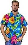 V.H.O. Original King Kameha | Funky Hawaiian Shirt | Men | XS-12XL | Short-Sleeve | Front-Pocket | Hawaiian-Print | Big Flower Summer | Multiple Colours