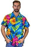 Original King Kameha   Funky Camisa Hawaiana Señores   XS - 6XL   Manga Corta   Bolsillo Delantero   impresión De Hawaii  BigFlower  diferentes colores