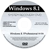 WINDOWS 8.1 Professional 64 - Bit Compatible Versions Re-install Windows Factory Fresh! Recover, Repair, Re Install - Restore Boot Disc ~ Fix PC - Laptop - Desktop ~ AIO DVD/ROM