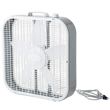 Lasko 3733 20  Fan Box, Gray/White