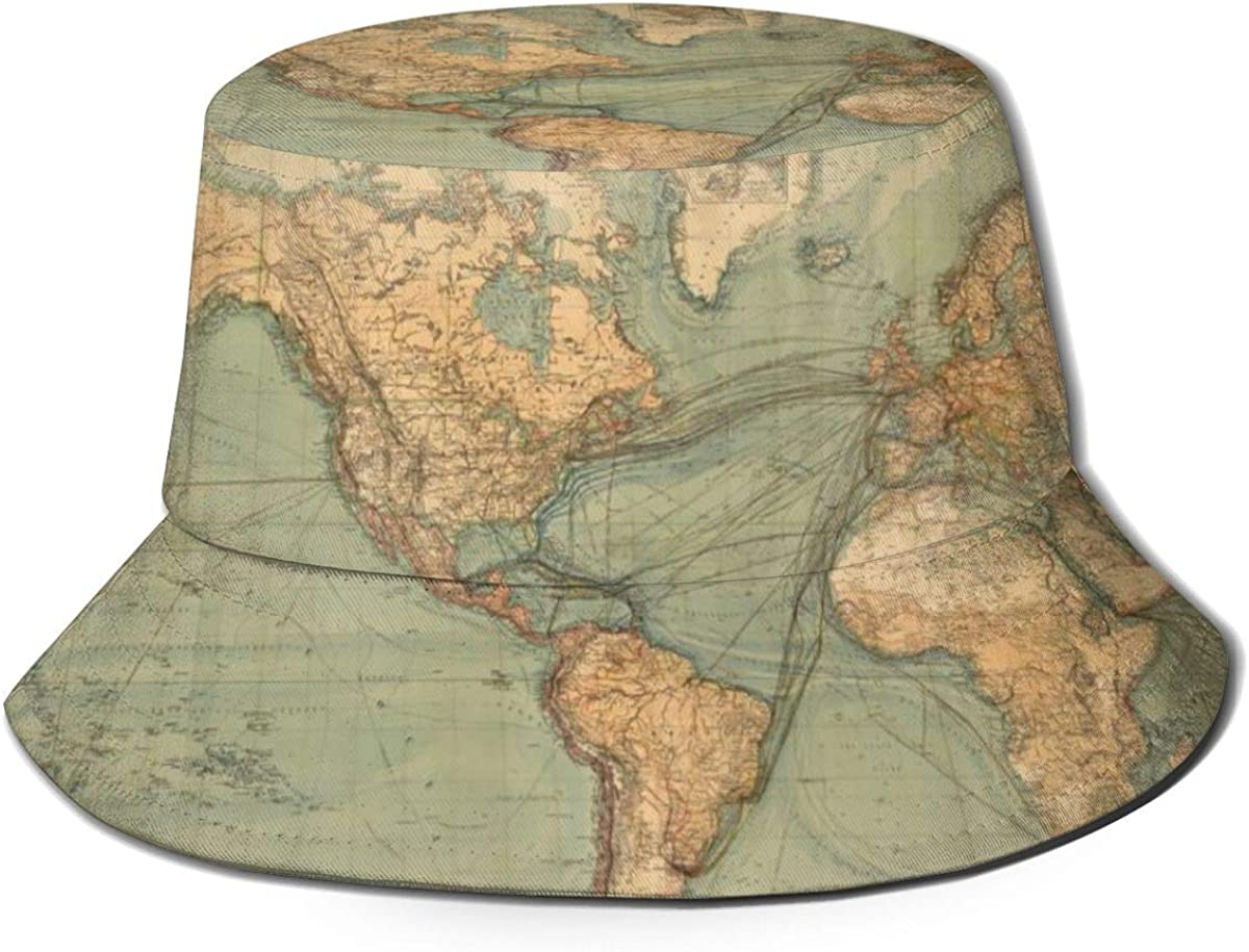 Retro World Map Bucket Hat...