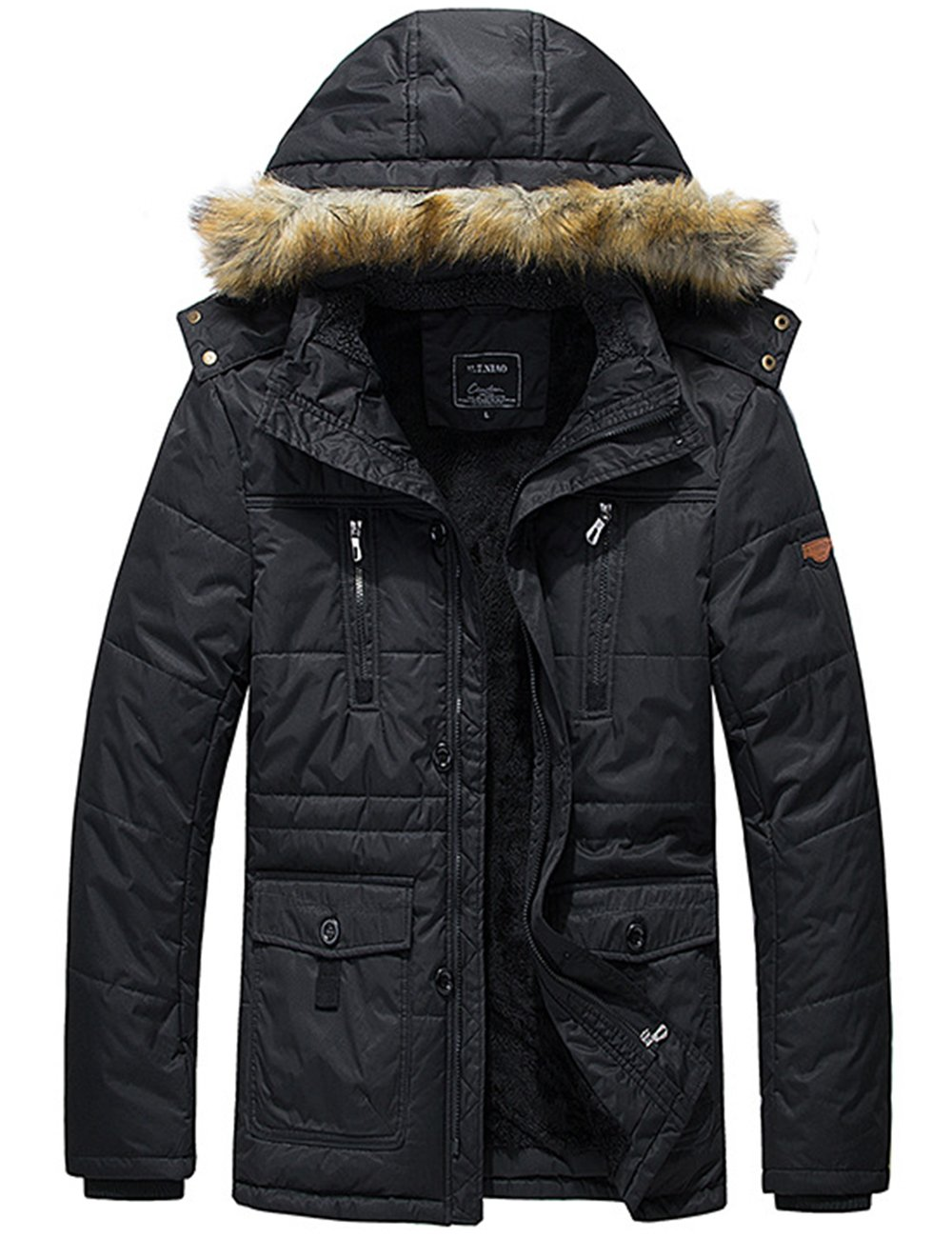 Menschwear OUTERWEAR メンズ B075F7L2QX XL|ブラック ブラック XL