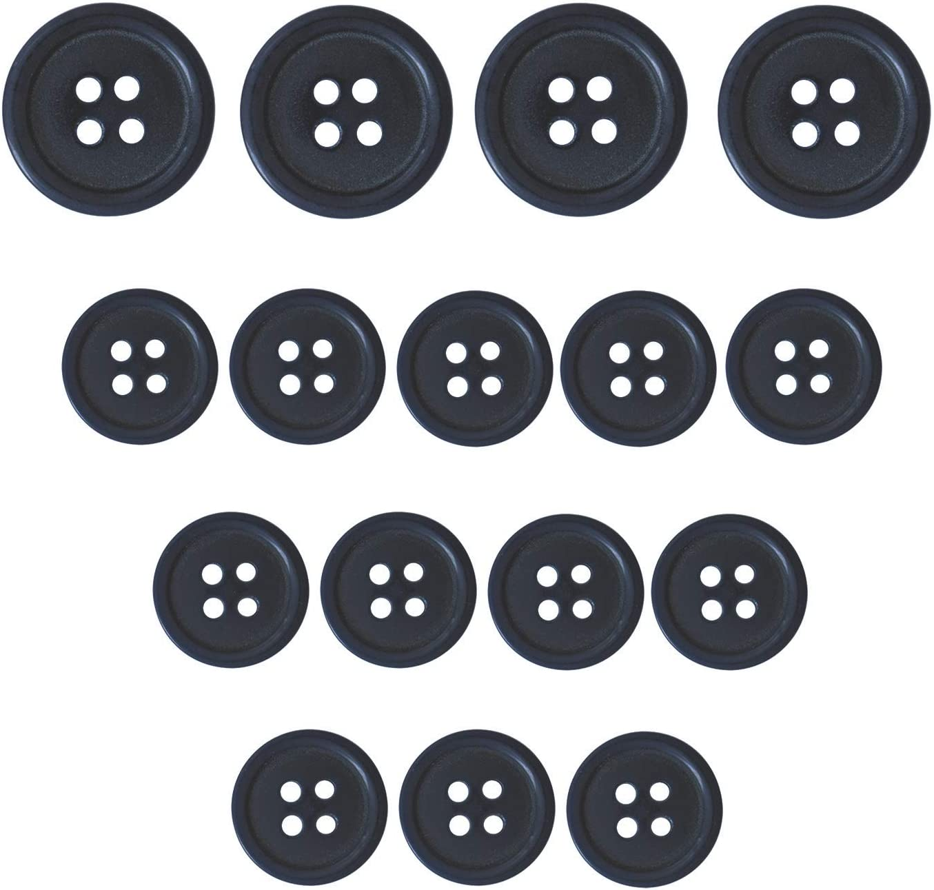 x 4 buttons 11mm Mottled White 2 Hole Button