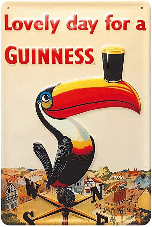 US SELLER Lovely day for a Guinness tin metal sign office shop tin signs