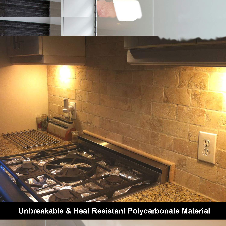 10 Pack BESTTEN 1-Port Keystone Jack Wall Plate 1-Gang Standard Size White UL Listed Unbreakable Polycarbonate