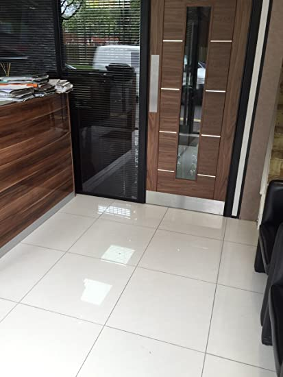 Sand Effect Off White High Gloss Polished Porcelain 600x600 Floor