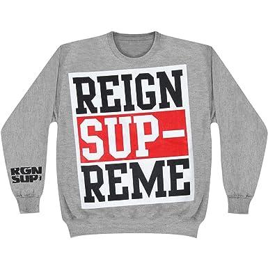 58a1b8914c08 Amazon.com  Reign Supreme Men s Logo Sweatshirt Small Grey  Clothing