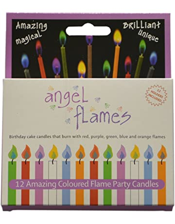Angle Flames Birthday Candles With Colored 12 Per Box