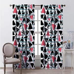 Amazon.com: hengshu Lush Decor Curtains 63 Inches Long ...