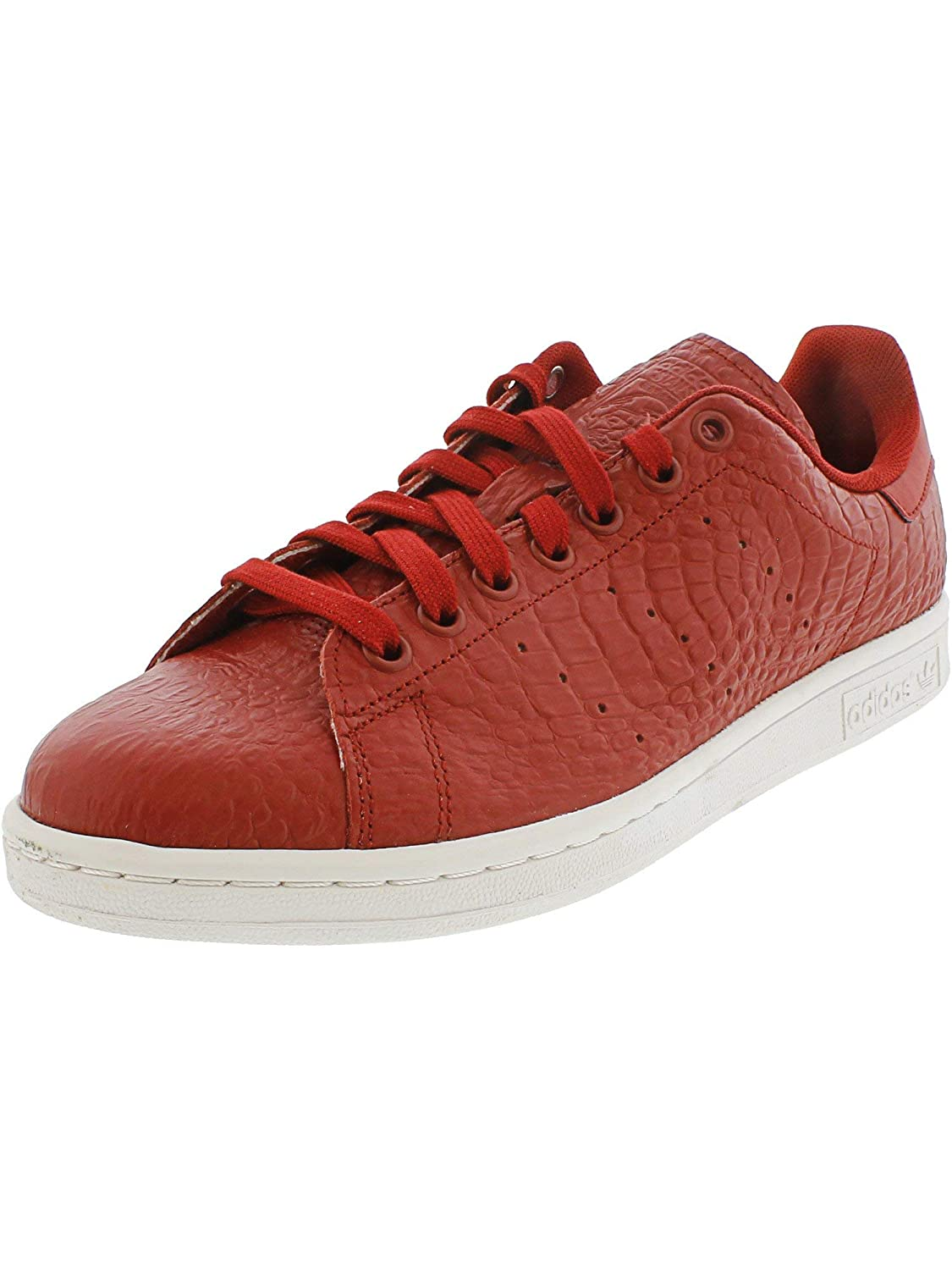 Red White Adidas ORIGINALS Men's Stan Smith shoes