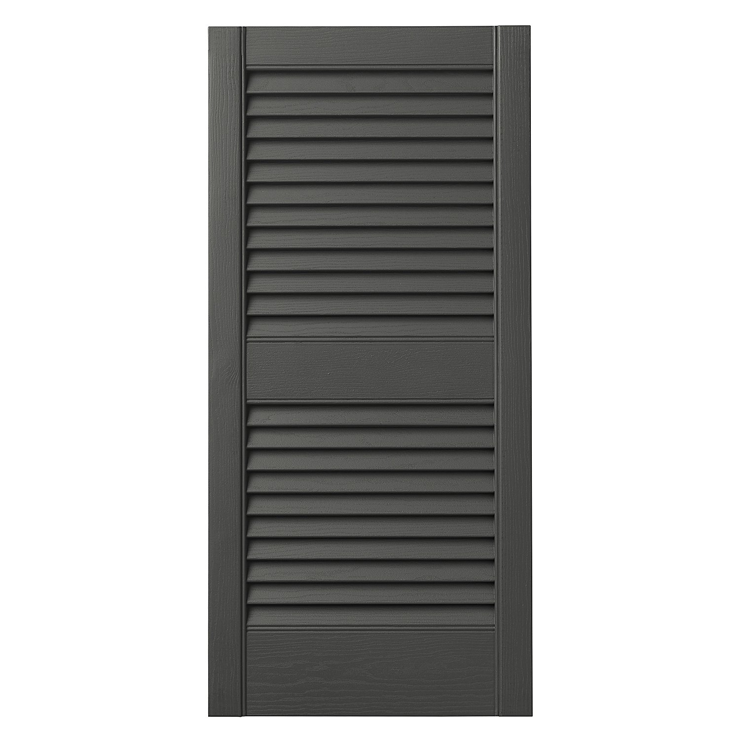 Ply Gem Shutters and Accents VINLV1543 93 Louvered Shutter, 15'', Spanish Moss