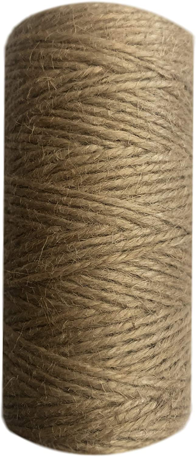 328 Feet Packaging Arts and Crafts Gardening Gifts Natural Jute Twine 2mm