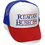 The Goozler Reagan Bush '84 - Funny Retro Vintage Style - Unisex Adult Trucker Cap Hat