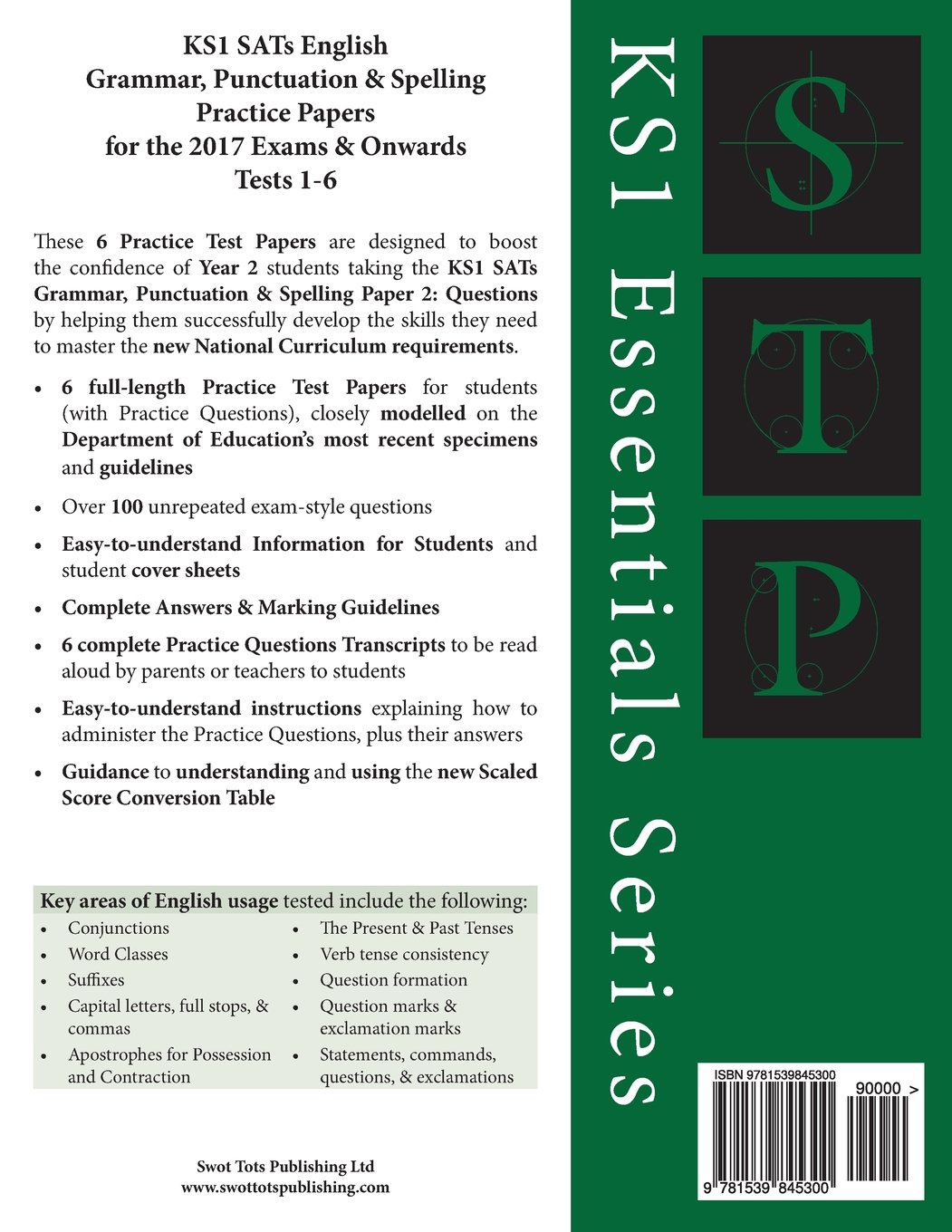 Ks1 sats english grammar punctuation spelling practice papers for the 2017 exams onwards tests 1 6 year 2 ages 6 7 volume 2 ks1 essentials