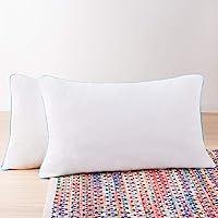Paquete de 2 almohadas de Memory Foam triturado Linenspa: moldeables, esponjables y personalizables; comodidad universal…