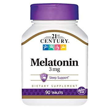 Image Unavailable. Image not available for. Color: 21st Century Melatonin 3 mg ...
