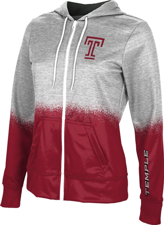 ProSphere Temple University Women's Full Zip Hoodie - Spray Over FEBB (Large)