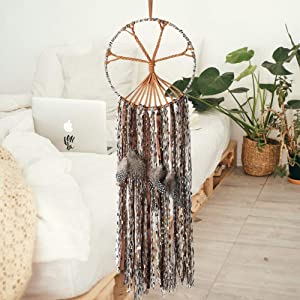 """The Tree of Life Dream Catcher Handmade Traditional Feather Large Boho Chic Dream Catchers Kids Bedroom Living Room Wall Hanging Bohemian Ornament Craft Home Decor Dia 10"""" (Tree of Life)"""