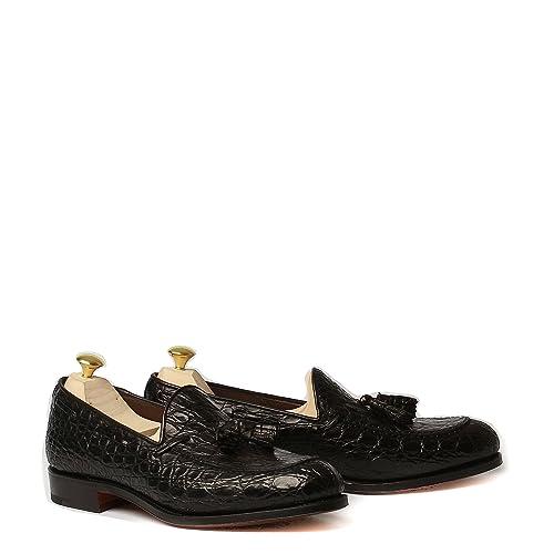 Carmina Shoemaker Mocassino Forrest in Pelle di Coccodrillo