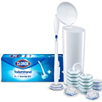 Clorox ToiletWand Disposable Toilet Cleaning System - ToiletWand, Storage Caddy and 16 Disinfecting ToiletWand Refill…