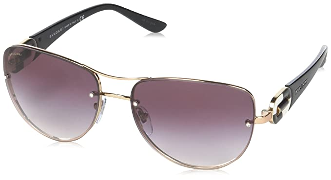 8188d38ccd8 Amazon.com  Bvlgari Women s BV6053BM Sunglasses Pink Gold Violet ...