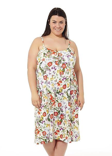 cc2fde2c Vestido Mujer Verano. Vestido de Playa. Estampados Varios. Tallas Grandes  Mabel Big&Beauty.