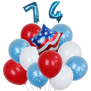 Christmas In July Party Favors.Amazon Com Latex Patriotic Balloons For 4th Of July Party