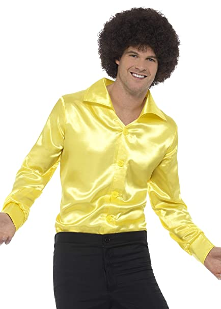 Amazon.com: Mens 60s 70s Groovy Dude Amarillo Disco Camisa ...