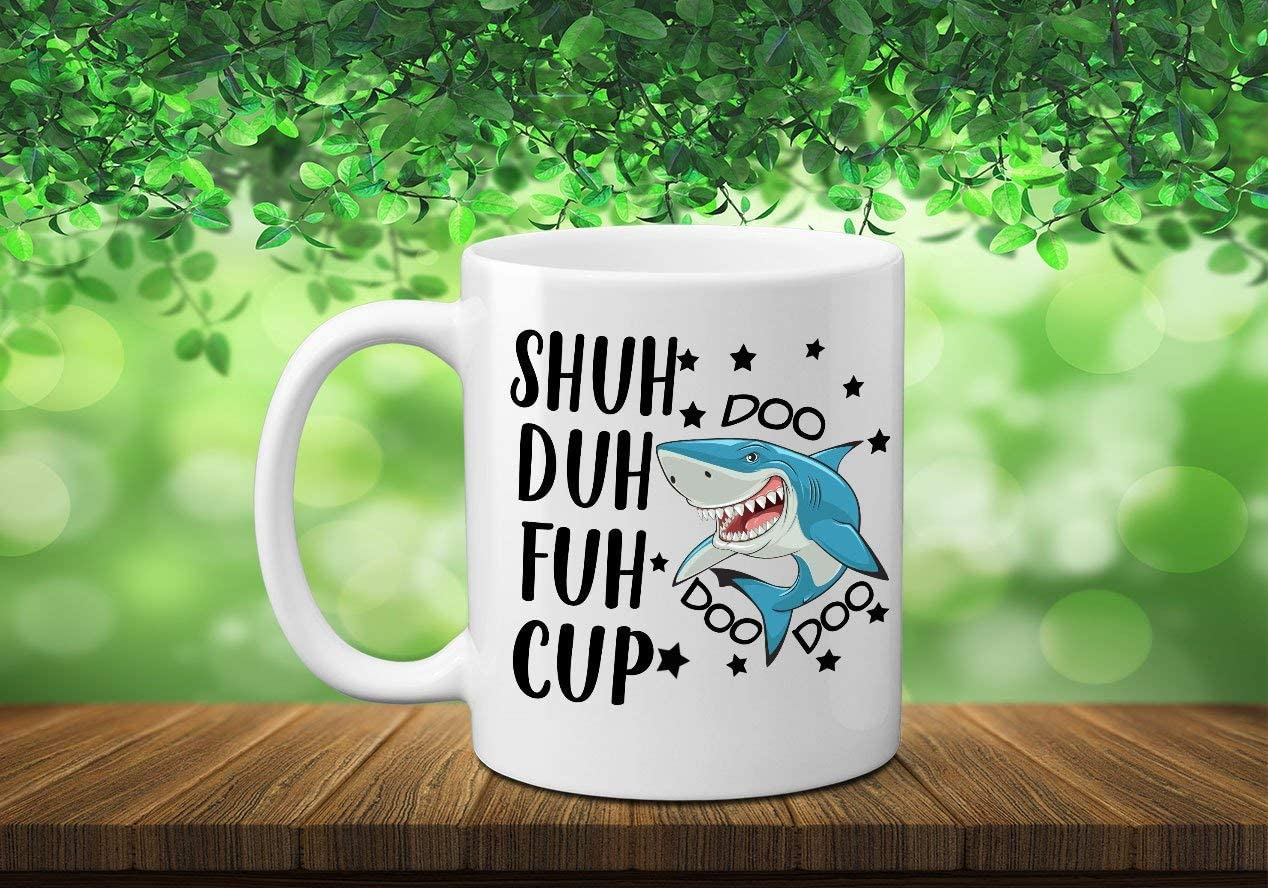 Nat999Lily Shuh Duh Fuh Cup Doo Doo Doo Mug Shuh Duh Fuh Cup Shark Mug Shut The Fuk Cup Rude Text Mug Middle Finger Mug Curse Word Mug Funny Mugs