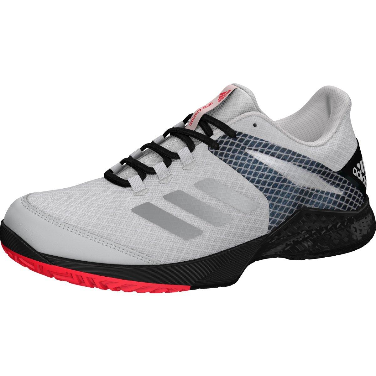 adidas Adizero Club 2 Shoe Unisex Tennis 5 White-Matte Silver-Black