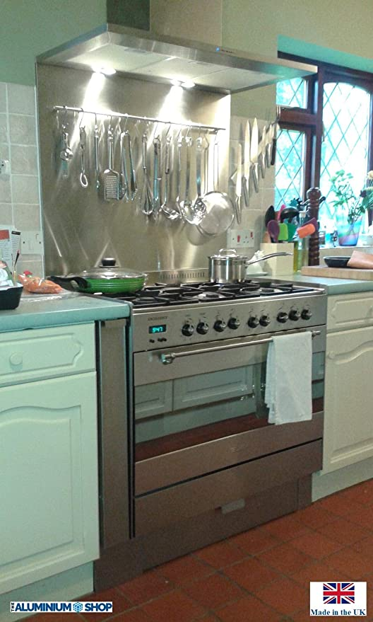 Brushed stainless steel all sizes Kitchen Splash Back